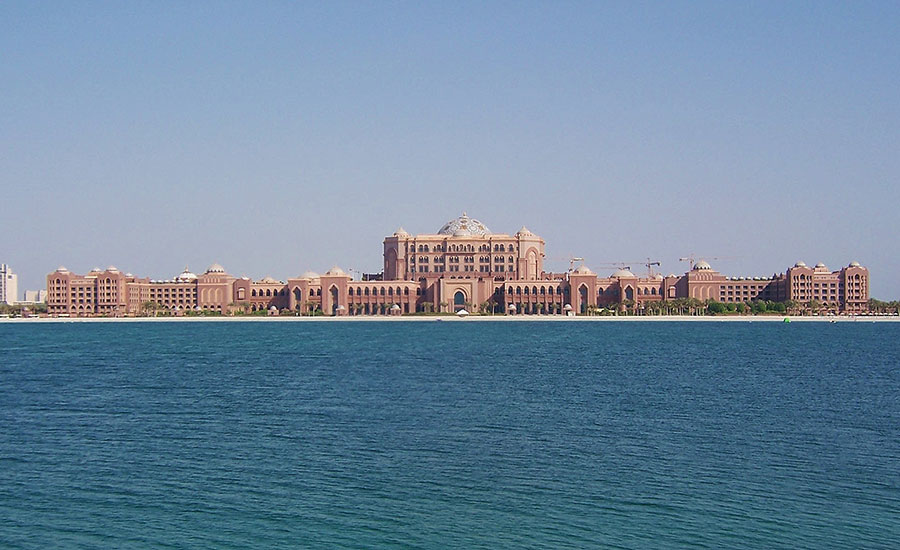 The Seven-Star Emirates Palace Hotel in Abu Dhabi, United Arab Emirates (UAE)