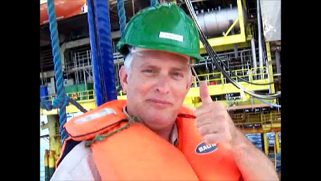 On DP4, the largest oil and gas rig in the Meditteranean