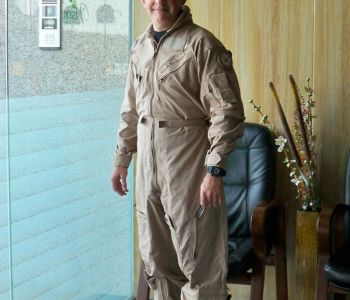 Suited up and ready for an upstream survey in UAE